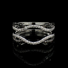 Christmas Special 0.50Ct Round Diamond 10K Solid White Gold Solitaire Ring Wrap