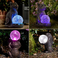 More details for solar power outdoor garden novelty led animal light up path mystic ornament