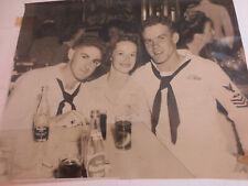 Vintage Uss Navy Members In The Bar Photo