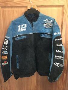 Ryan Newman Nascar Chase Wilson Leather Jacket Men XXL Blue Alltel (NJ-36)