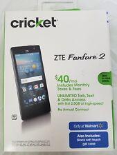 "NEW Sealed, Cricket ZTE Fanfare-2 Prepaid Smartphone, 4.5""/ 8GB/ Marshmallow 6.0"