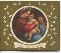 VINTAGE CHRISTMAS MADONNA & CHILD ST JOHN BAPTIST RENAISSANCE MCM GREETING CARD