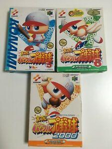 Nintendo 64: Jikyou Pro Yakyuu 5,6,2000  Pro Baseball setJapan