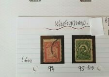 NEWFOUNDLAND 1901 1c KING JAMES & 2c MAP STAMPS
