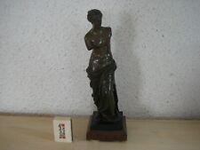 "(901) Alte Bronze Figur "" Frauen Halbakt "" auf Marmor Sockel"