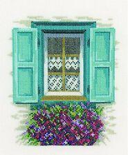 LANARTE  0167123  Volets Bleus  Kit  Broderie  Point de Croix  Compté