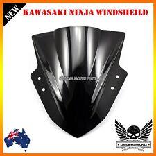 Motorcycle Bubble Windshield Windscreen Kawasaki Ninja 300 EX300 2013-2015 Black