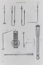 Barometer, Air Pressure. Scientific - Antique B/W Print - c19th Encyclopaedia