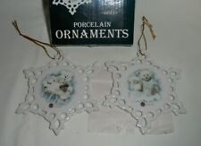 Boyds' Porcleain Ornaments # 5574 Set of 2 Mib