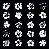 20 x Hibiskus ✔ 5cm ✔ Farbauswahl ✔ Wandtattoo Aufkleber ✔ Auto Sticker ✔ Blumen