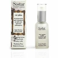 SOSTAR Donkey Milk Anti Aging Wrinlke Face SERUM Hyaluronic Acid 30ml 1.01oz