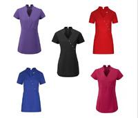 V Neck Beauty Hairdressing SPA Nail Salon Therapist Massage Tunic Uniform 4BT