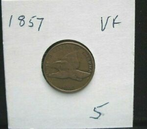 1857 Flying Eagle  1C cent,  circulated