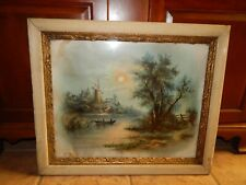 ANTIQUE GESSO FRAMED W.H. CHANDLER HOLAND SCENE  PRINT, SIGNED