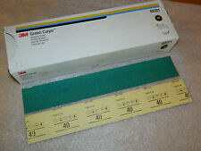 NEW 3M 02221 GREEN CORPS PRODUCTION PAPER ABRASIVE 100 SHEETS GRADE 40E 17-1/2""