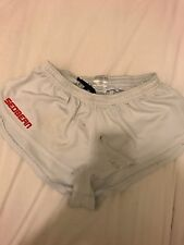 L sedbean white skimpy gym shorts