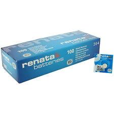 100 x Renata 364 SR621SW SWISS WATCH Cella Batteria 1,55 V AG1 NUOVO Joblot BATTERIE