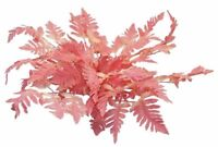 12 PINK Leather Fern Stems Fronds Greenery Silk Wedding Flowers Centerpieces