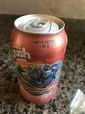 Transformers Crush Orange Optimus Prime 12oz Full Can soda pop Unopened