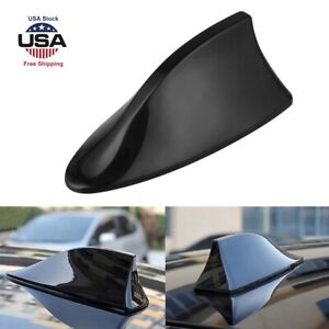 Universal Black Fiber Shark Fin Roof Antenna Car AUTO Aerial FM/AM Radio Signal