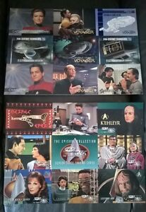 STAR TREK PROMO SHEET 1995  2 UNCUT  PROMO SHEETS