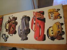 DisneyPixar Cars Peel&Stick Wall Decals 6Removable PreCut Reusable mini fatheads