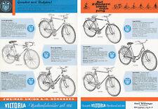 Victoria Fahrrad-Prospekt 1963 6/63 brochure bicycles prospectus Zweirad Union