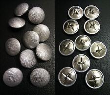 ✚2111✚ German Bundeswehr pebbled uniform buttons 22 mm 10 pieces MAKER MARKED