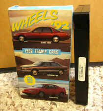 WHEELS family cars documentary 1992 Acura Vigor & Oldsmobile Toyota Paseo VHS