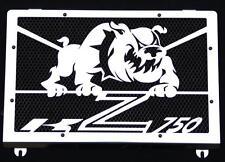 cache / Grille de radiateur inox poli Kawasaki Z750 04>06 Bulldog + grill. noir