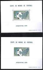 MONACO Bloc Spéciaux N°10 & 10a Coupe du monde football 1978 Neufs ** MNH