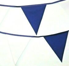 Tottenham hotspur bunting colours ** 10 mtr ** Navy and White flags THFC