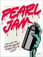 Pearl Jam Seattle 2013 Poster D*FACE (Show Edition)