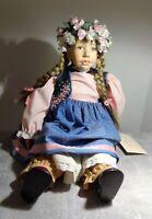 Christel Brenner Puppe Mädchen ca 47cm handgefertigtes Unikat sehr guter Zustand