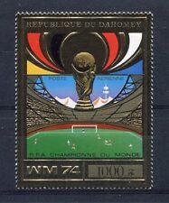 S5104) Dahomey 1974 MNH Wc Football - World Cup Football 1v Gold - Winner