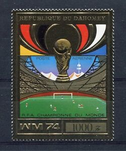 S5104) Dahomey 1974 MNH Wc Football - World Cup Football 1v Gold - Winner