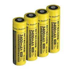 Nitecore 3400mAh Protected 18650 Rechargeable Battery 4-Pack  [TM26 TM16 TM06S]