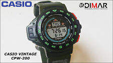 VINTAGE CASIO CPW-200, DIGITAL COMPASS - QW.1030, JAPAN, WR.100, YEAR 1993