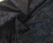 "10 Meters Prestigious Black Heavy Jacquard Brocade 60"" Wide  Curtain Fabric"