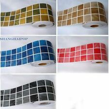 Selbstklebende Bordüre Aufkleber Tapete Mosaik Kachel Vinyl Küchen Dekor 10cmX5M