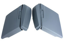 """ABS Extended stretch 4.5"""" saddlebags for Harley 2014-2017 both cutouts gray colo"""