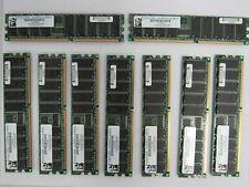 lot of 9 PC2100 Compliant  DDR256X72R266184VI PC2100R-2533-0-Z 116129573 74-4