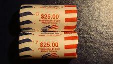 $1 PRESIDENTIAL Roll 2010 P & D Millard Filmore Uncirculated US MINT ROLLS