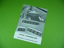 607K03 Prospekt, leaflet: BROOKES & GATEHOUSE LTD: G.R.P. CONSOLES, um 1970