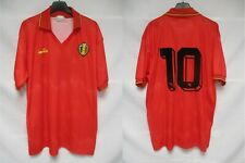 Maillot BELGIQUE BELGIUM URBSFA KBVB 1992 DIADORA SCIFO vintage shirt jersey XL