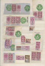 Ireland Revenue Stamps. Land Registry. Used on Paper.