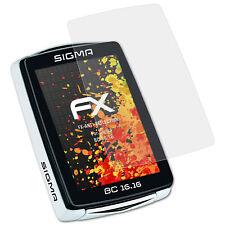 atFoliX 3x Film Protection d'écran pour Sigma BC 16.16 mat&antichoc
