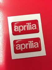 2 Adesivi Resinati Sticker 3D APRILIA
