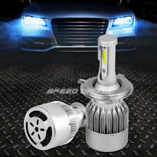 ALL IN ONE PAIR 6000K LED HIGH/LOW BEAM H4 HEADLIGHT BULBS KIT w/COOLING FAN