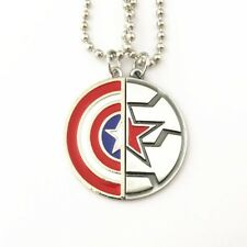 Captain America, Winter Soldier, Marvel, Avengers Friendship Necklace